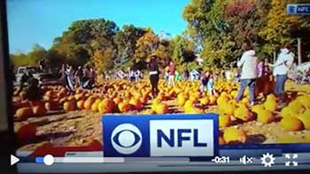 NFL on CBS Oct 16, 2016 featuring Demarest Farms, NJ